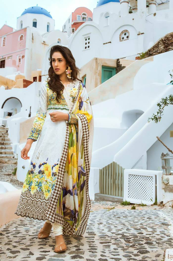 Honey Waqar By ZS Textile Embroidered Lawn Unstitched 3 Piece Suit HW17L 6A