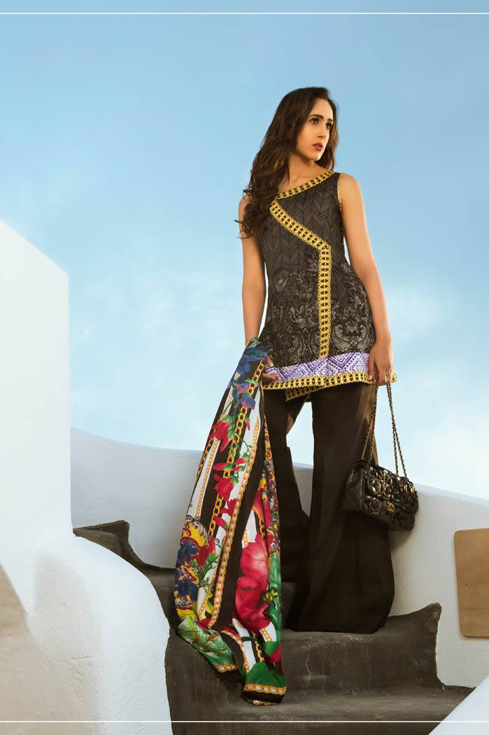 Honey Waqar By ZS Textile Embroidered Lawn Unstitched 3 Piece Suit HW17L 7A