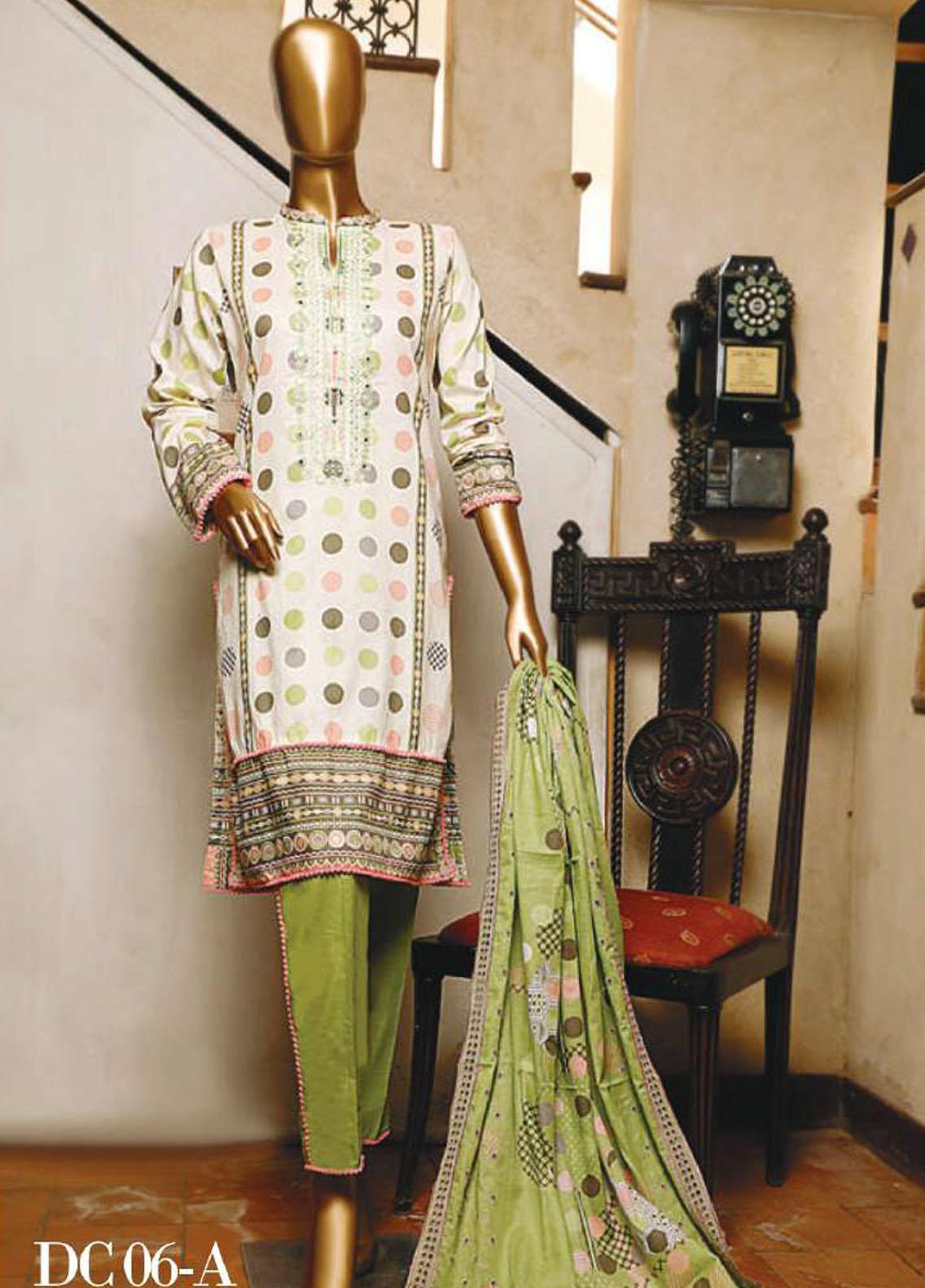 Diamond by HZ Textiles Embroidered Cambric Unstitched 3 Piece Suit HZ20-DC2 06A - Winter Collection