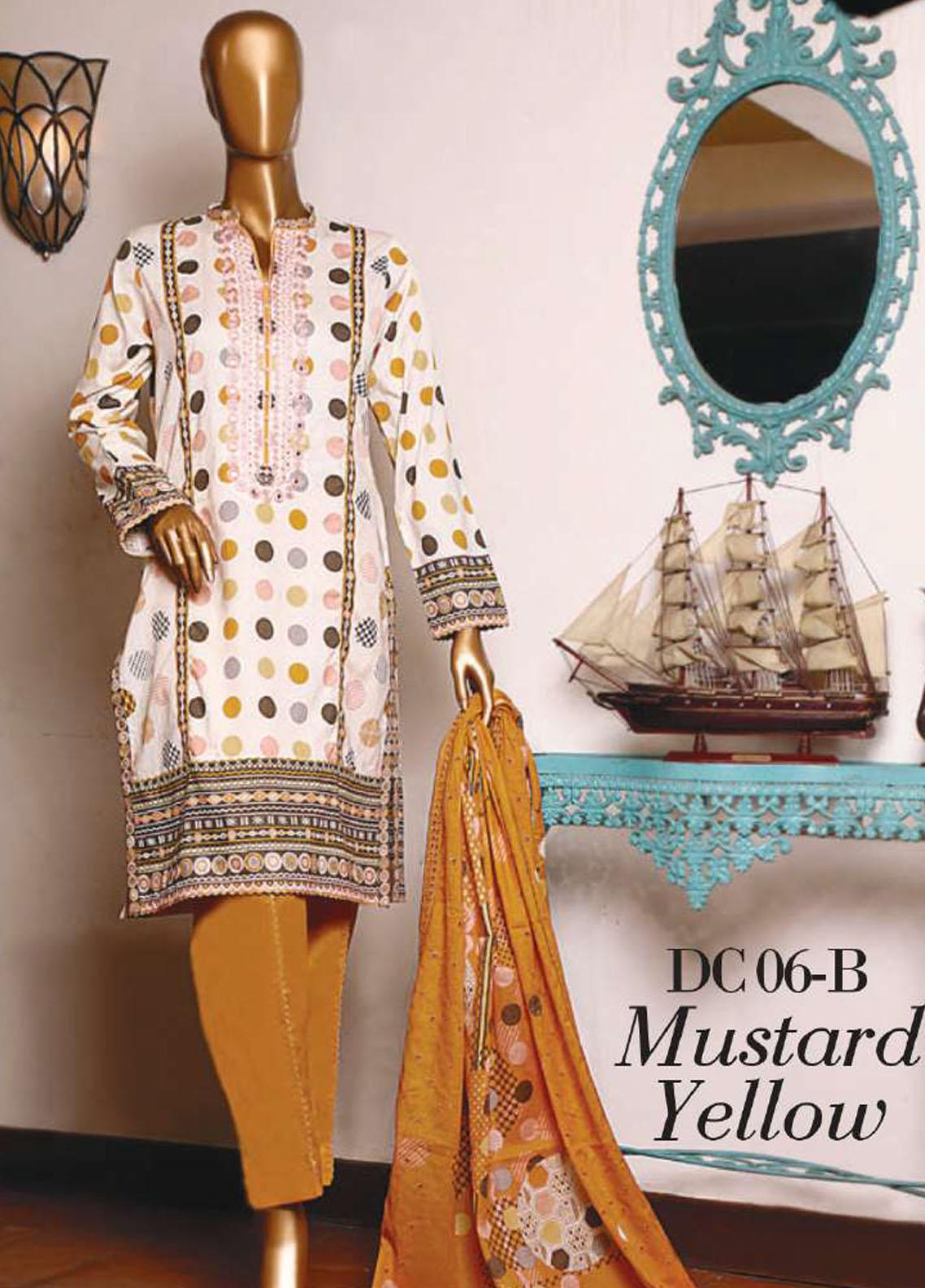Diamond by HZ Textiles Embroidered Cambric Unstitched 3 Piece Suit HZ20-DC2 06B - Winter Collection