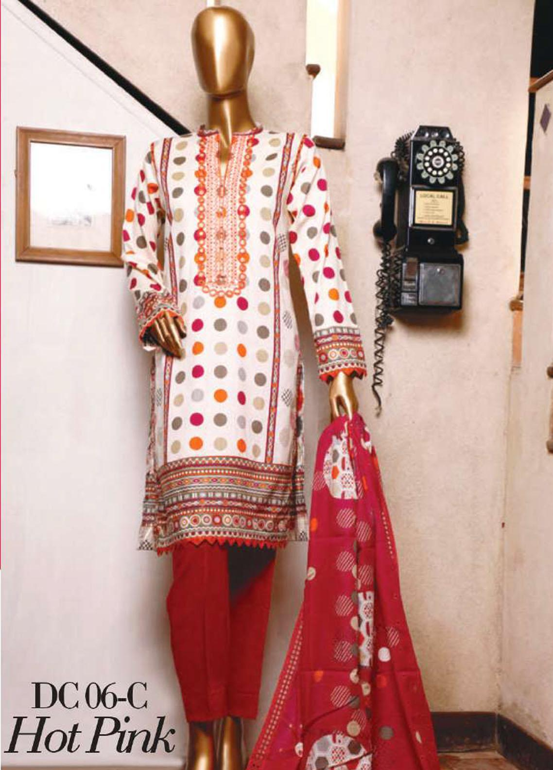 Diamond by HZ Textiles Embroidered Cambric Unstitched 3 Piece Suit HZ20-DC2 06C - Winter Collection