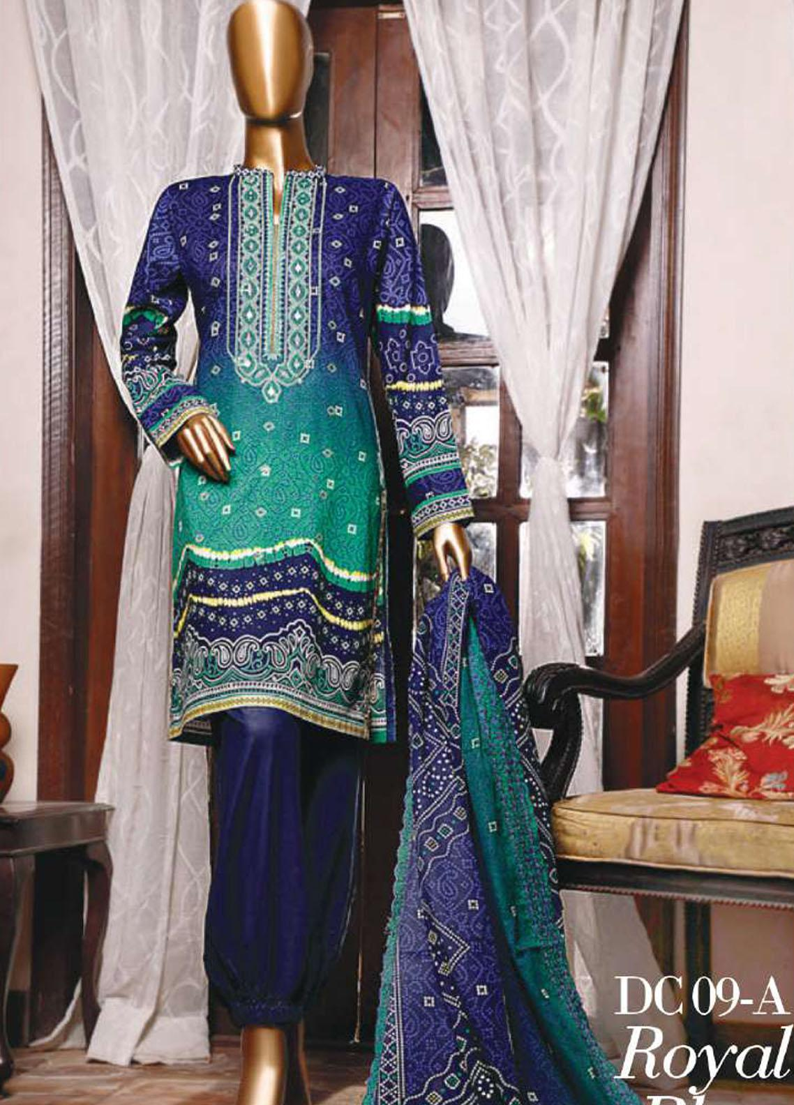 Diamond by HZ Textiles Embroidered Cambric Unstitched 3 Piece Suit HZ20-DC2 09A - Winter Collection