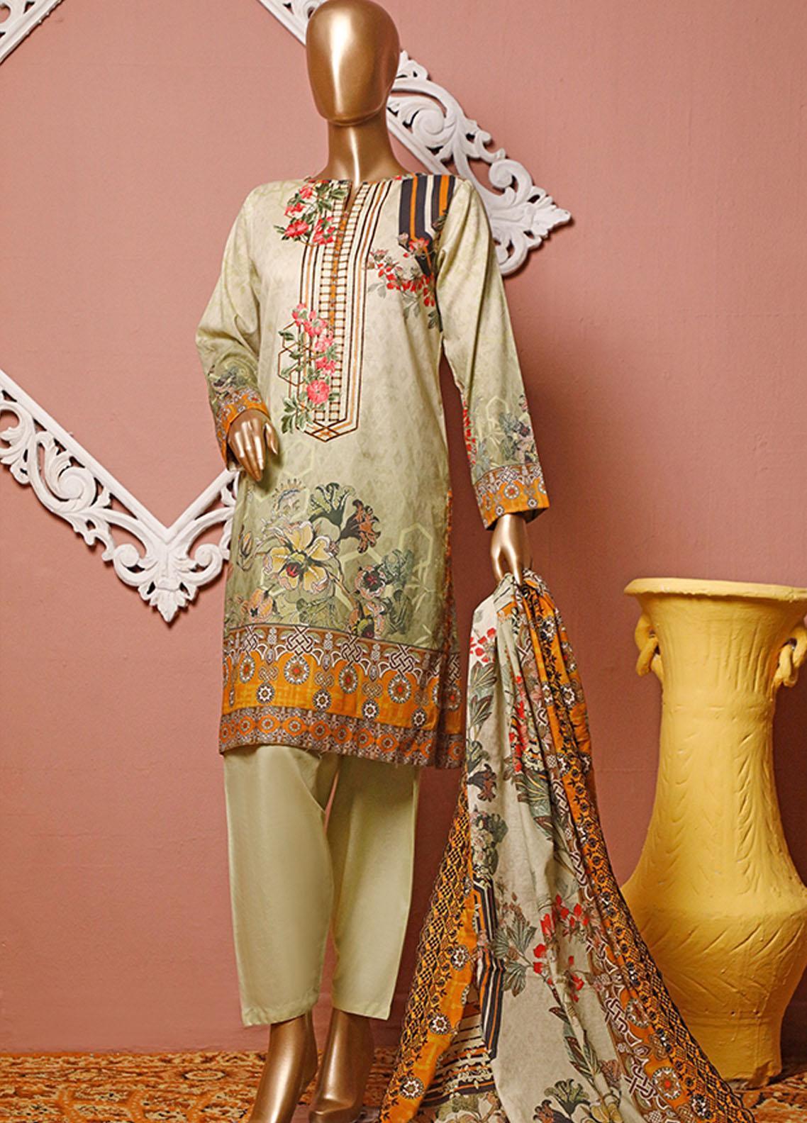 HZ Textiles Embroidered Lawn Unstitched 3 Piece Suit HZ20-D3 11 - Summer Collection