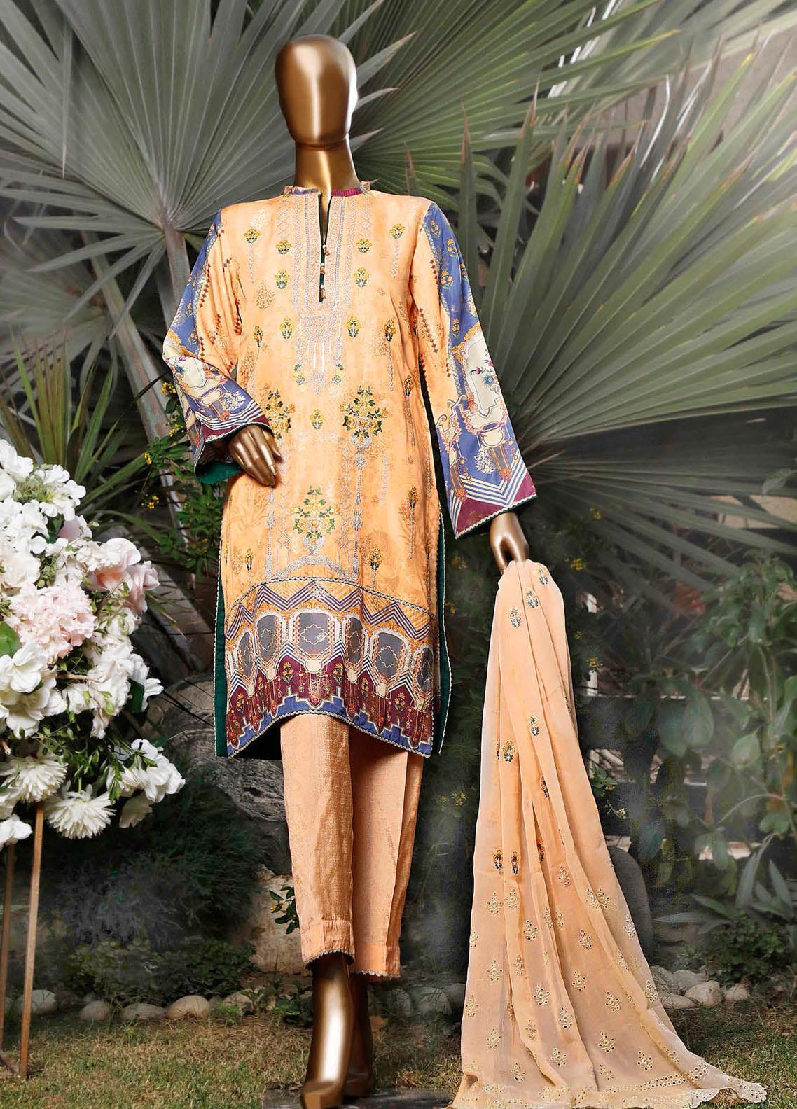 Turkish Jacquard by HZ Embroidered Viscose Unstitched 3 Piece Suit HZ20TV D-04 - Festive Collection