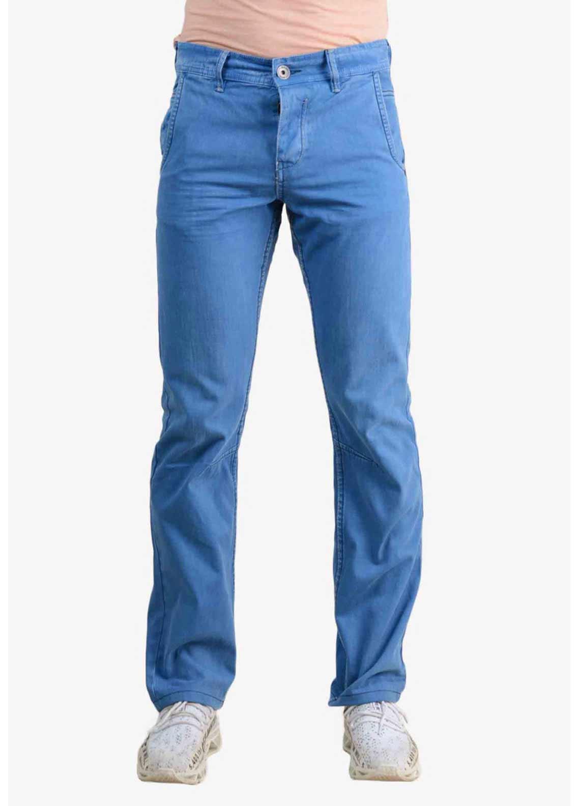 Ignite Wardrobe Denim Straight Jeans for Men -  Sky Blue
