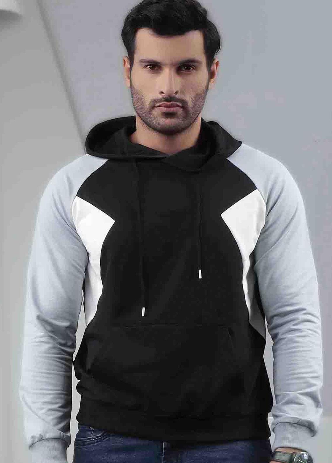 Ignite Wardrobe Cotton Tricolor Hoodies for Men -  IG20HDM 005