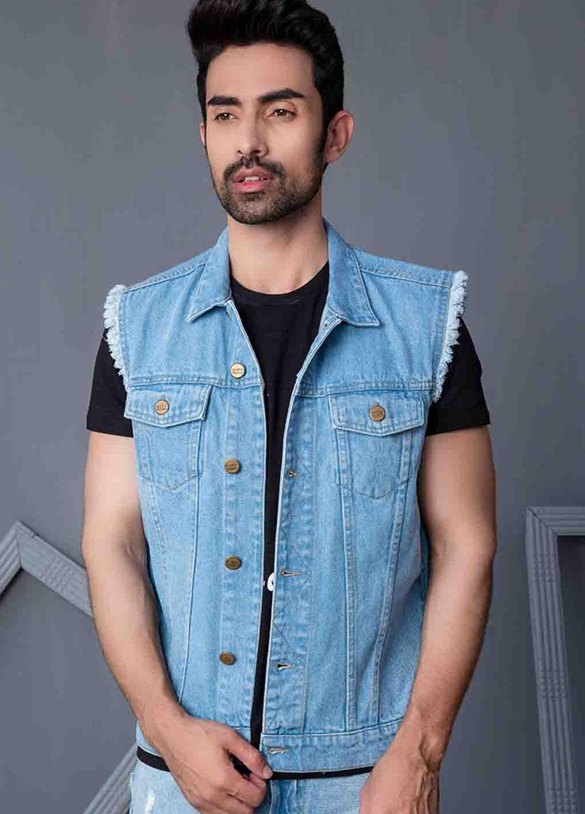 Ignite Wardrobe Denim Gilet Jackets for Men -  IG20JKM 001