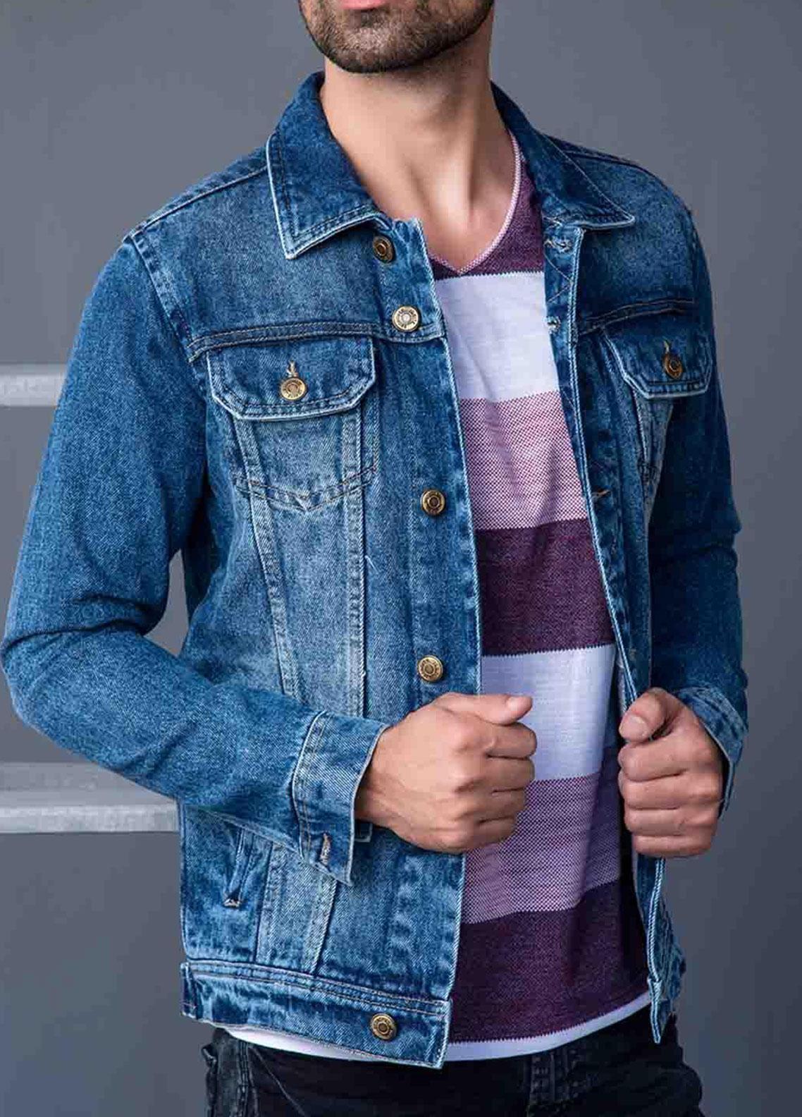Ignite Wardrobe Denim Trucker Jackets for Men -  IG20JKM 003