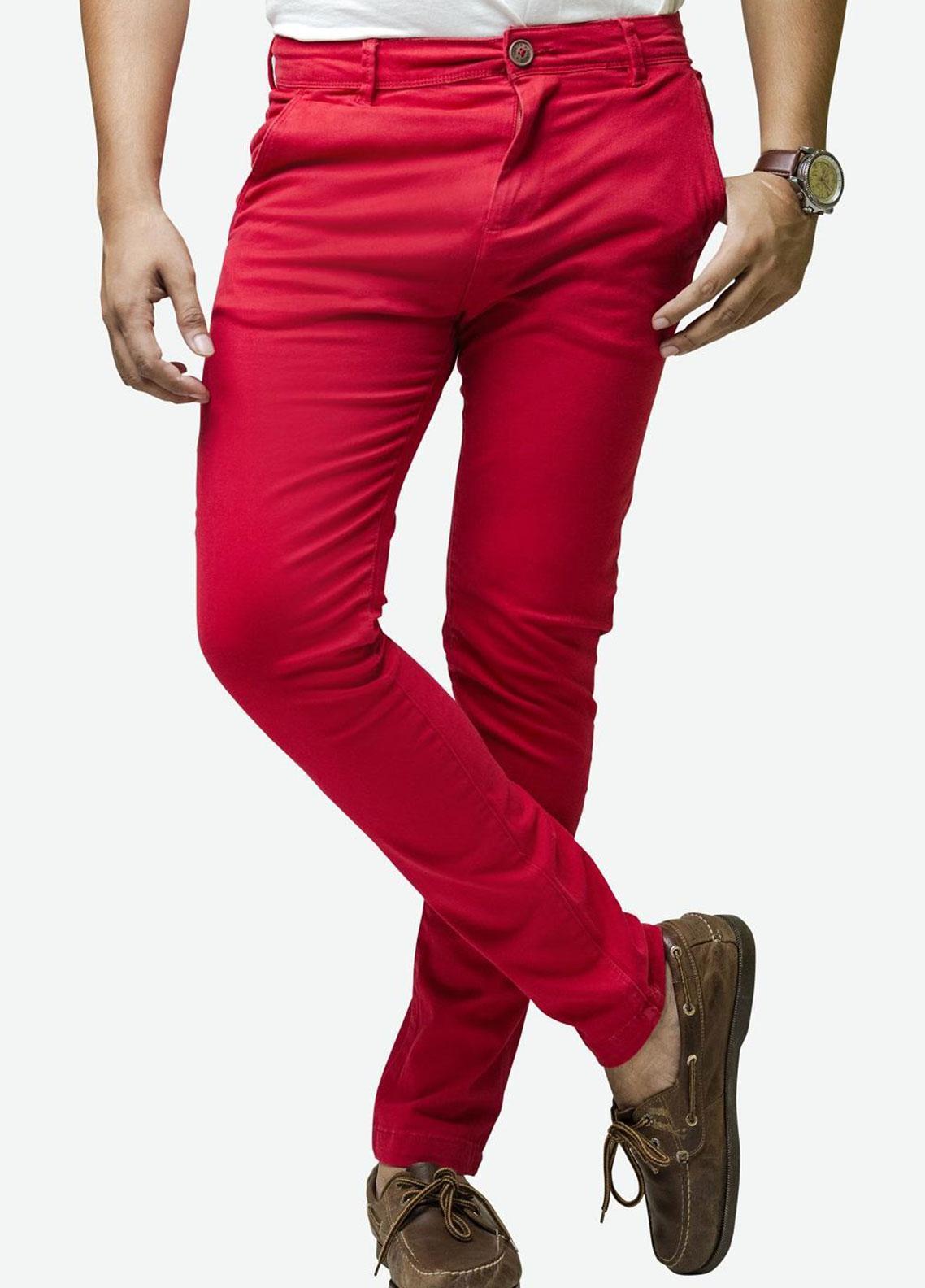 Ignite Wardrobe Cotton Slim Fit Chino Pants for Men -  IG20PNM 027