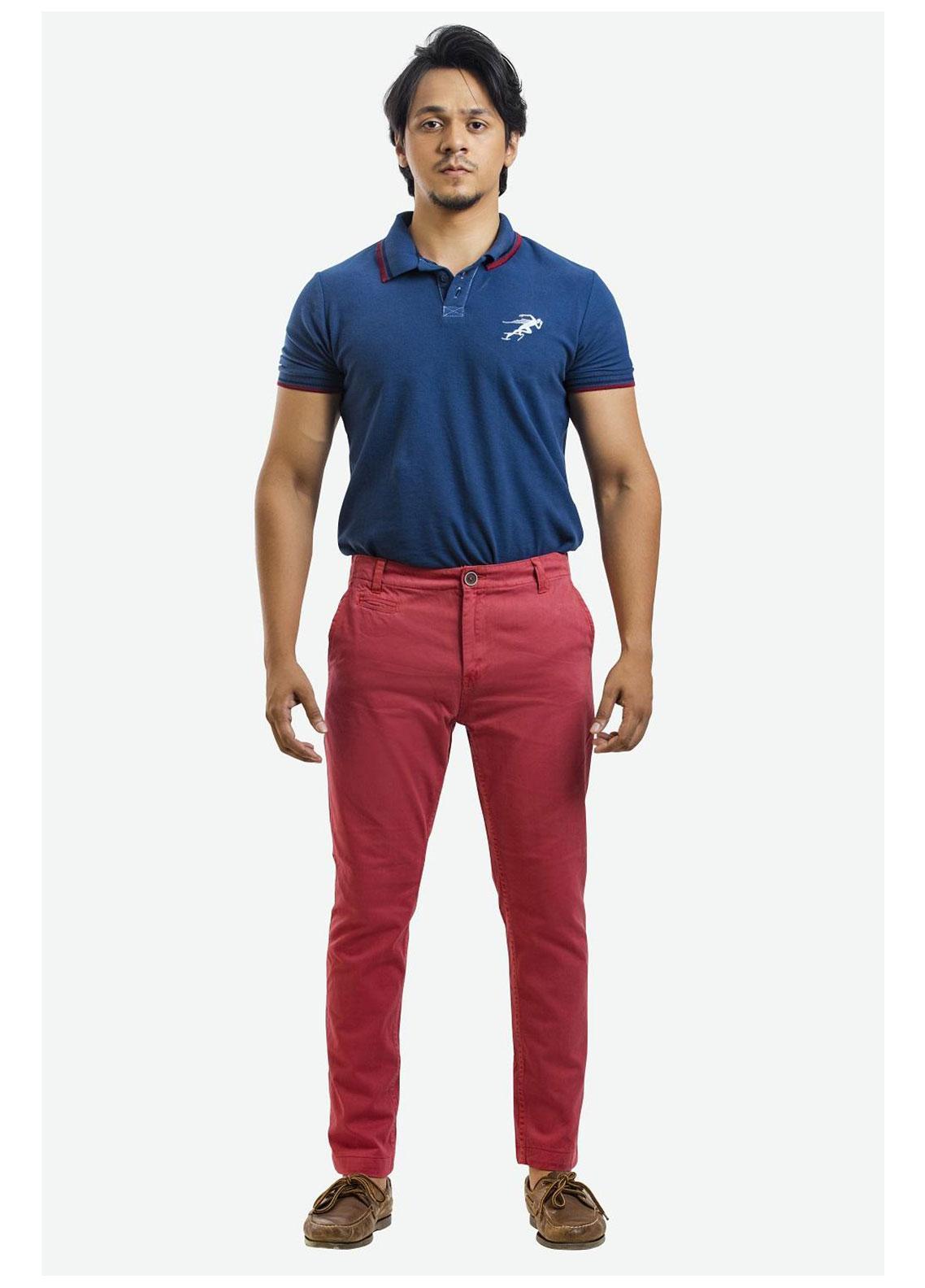 Ignite Wardrobe Cotton Slim Fit Chino Pants for Men -  IG20PNM 039