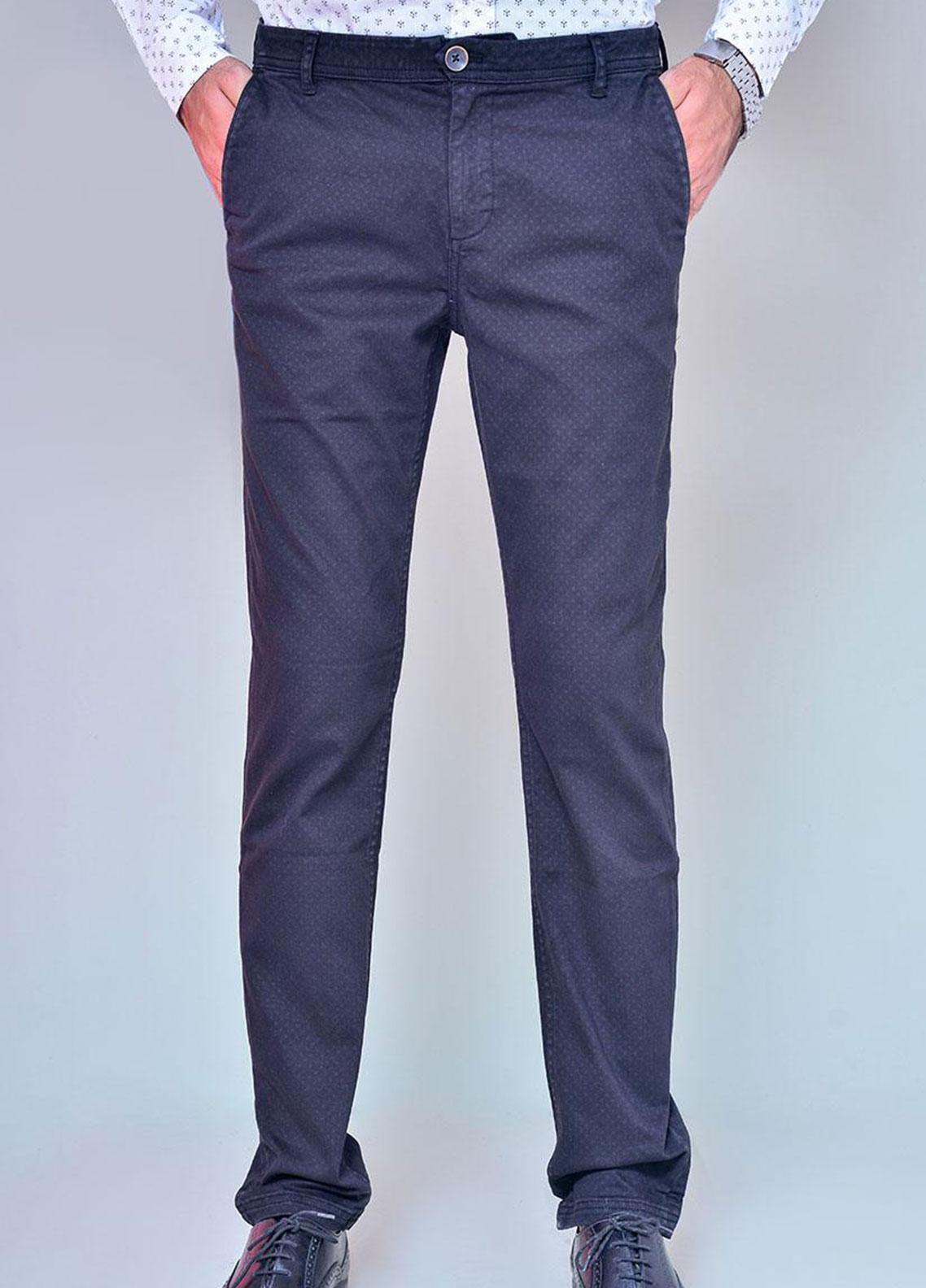 Ignite Wardrobe Cotton Pattern Chino Pants for Men -  IG20PNM 041
