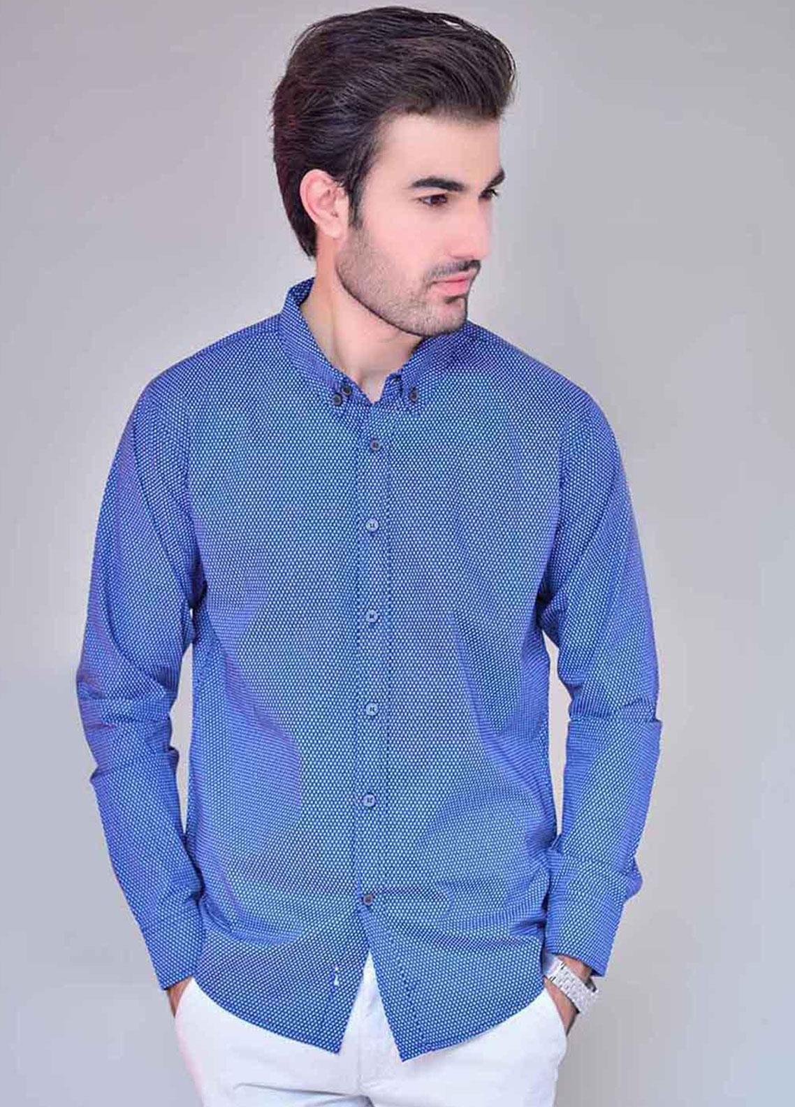 Ignite Wardrobe Cotton Printed Button Down Shirts for Men -  IG20SHM 023