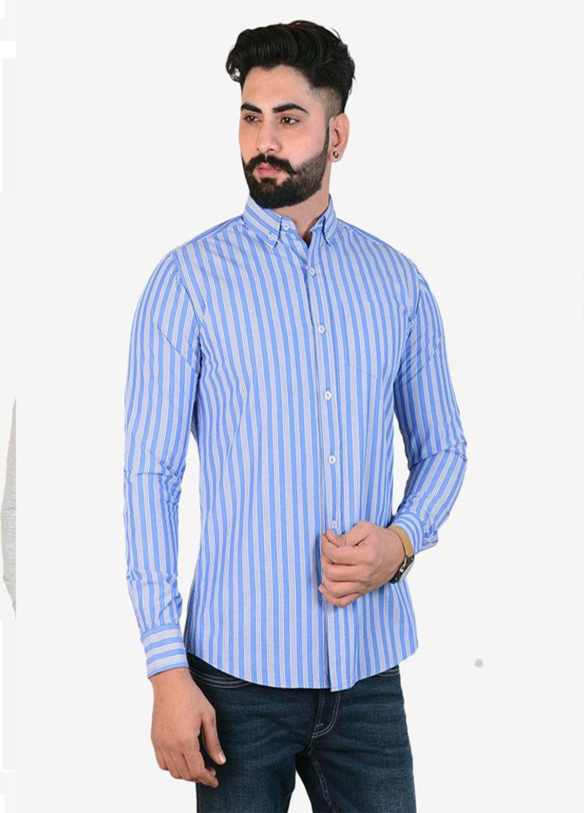 Ignite Wardrobe Cotton Semi Formal Lining Men Shirts -  IG20SHM 026