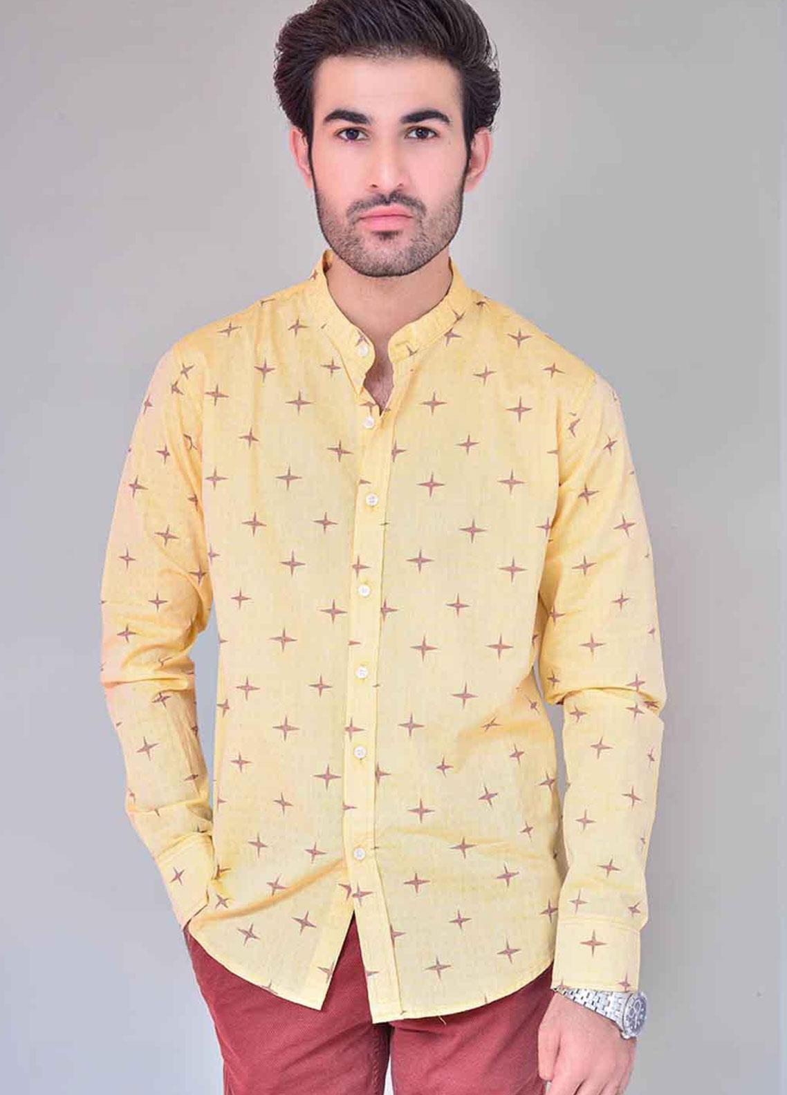 Ignite Wardrobe Cotton Twinkling Stars Printed Shirts for Men -  IG20SHM 029