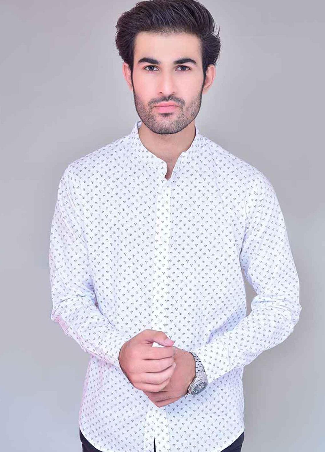 Ignite Wardrobe Cotton Ben Collar Casual Dotted Shirts for Men -  IG20SHM 031