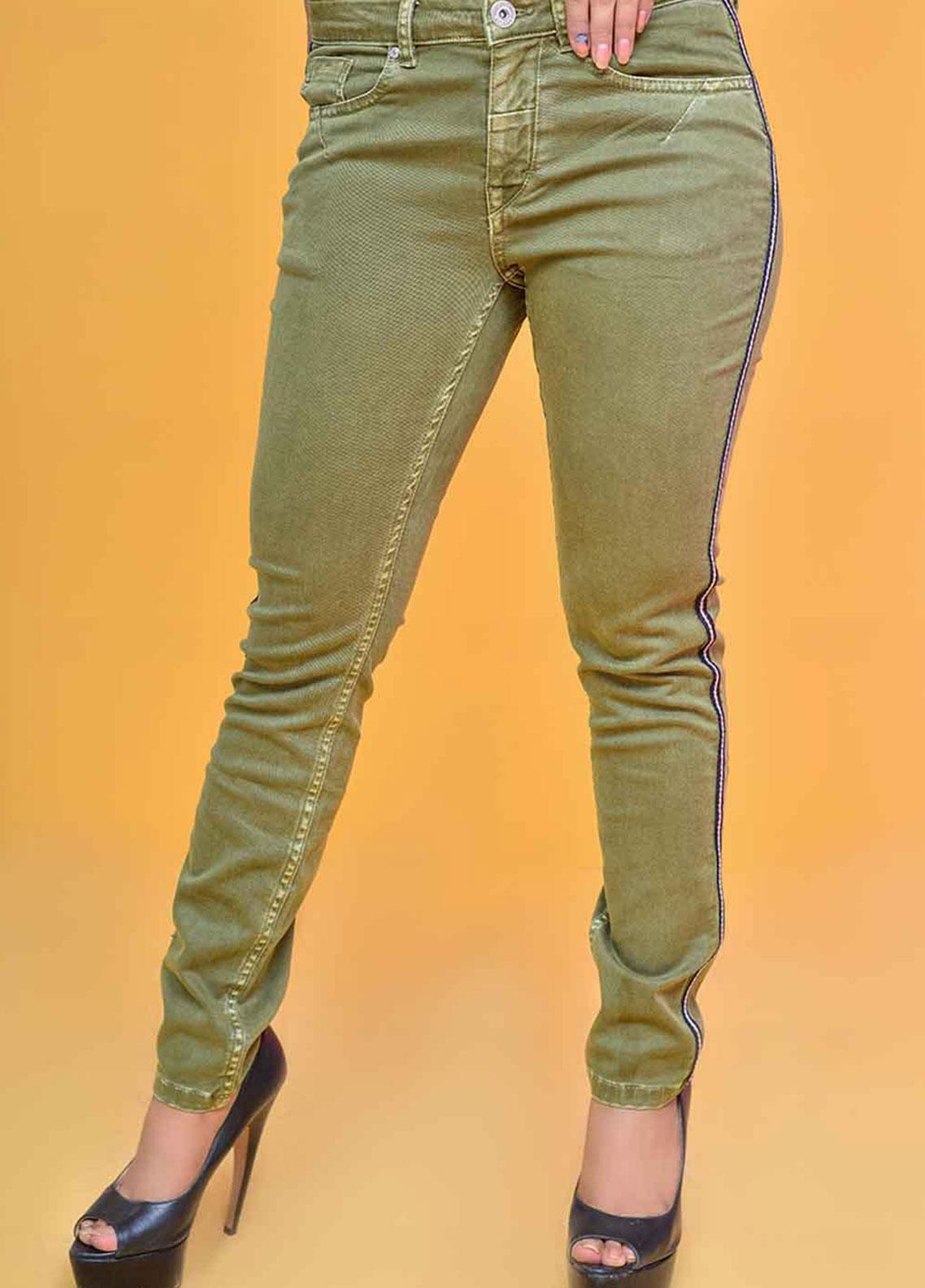 Ignite Wardrobe Tape Stretch Cotton Skinny Pants IG20PNW 002
