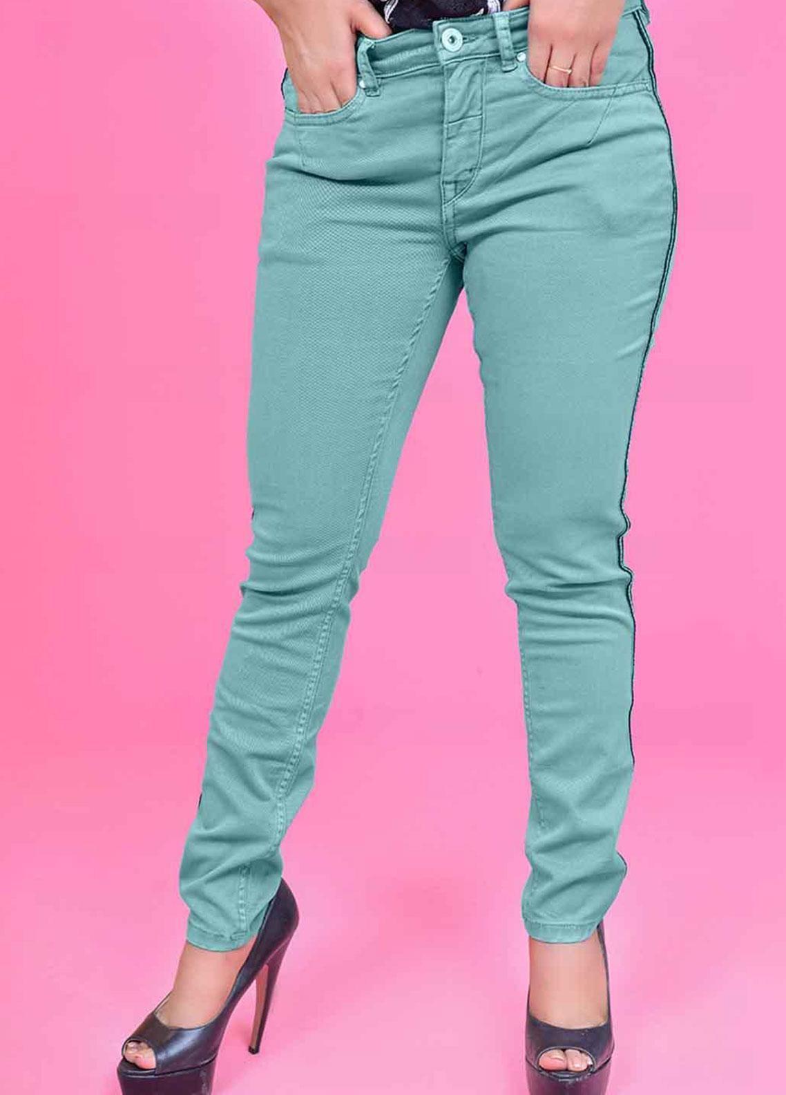 Ignite Wardrobe Tape Stretch Cotton Skinny Pants IG20PNW 004