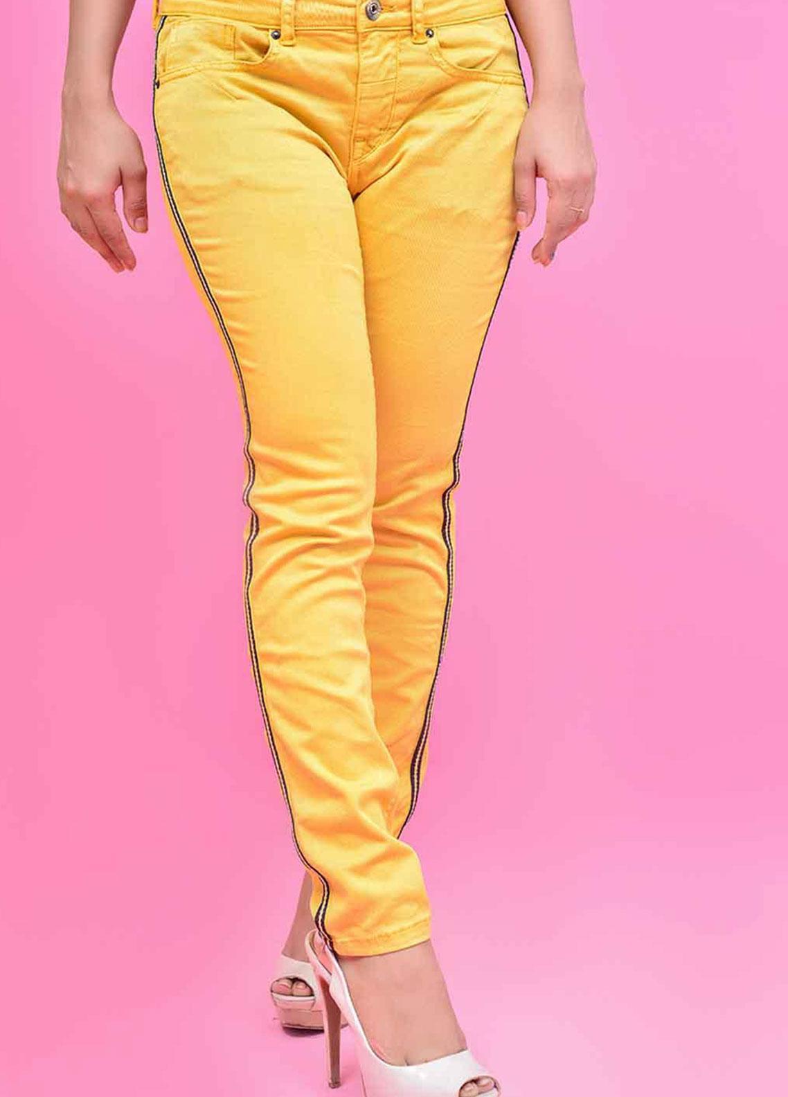 Ignite Wardrobe Tape Stretch Cotton Skinny Pants IG20PNW 005