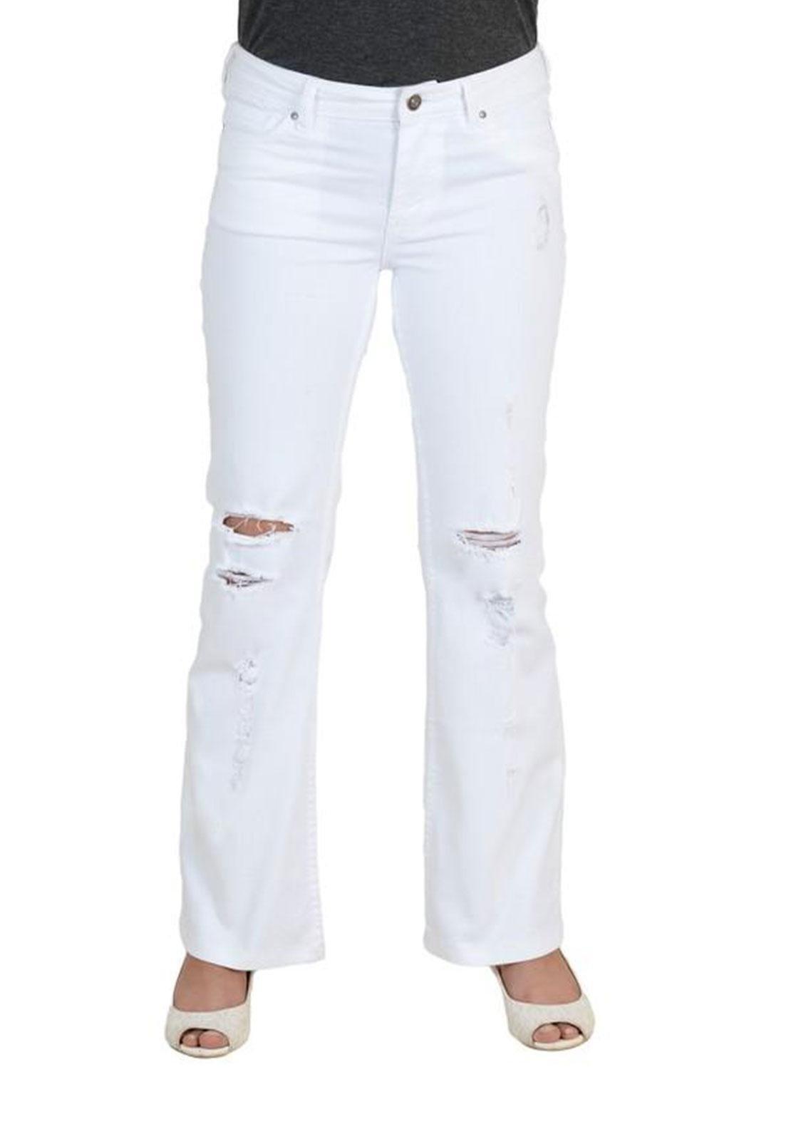 Ignite Wardrobe Stretchable Cotton Boot Cut Pants IG20PNW 006