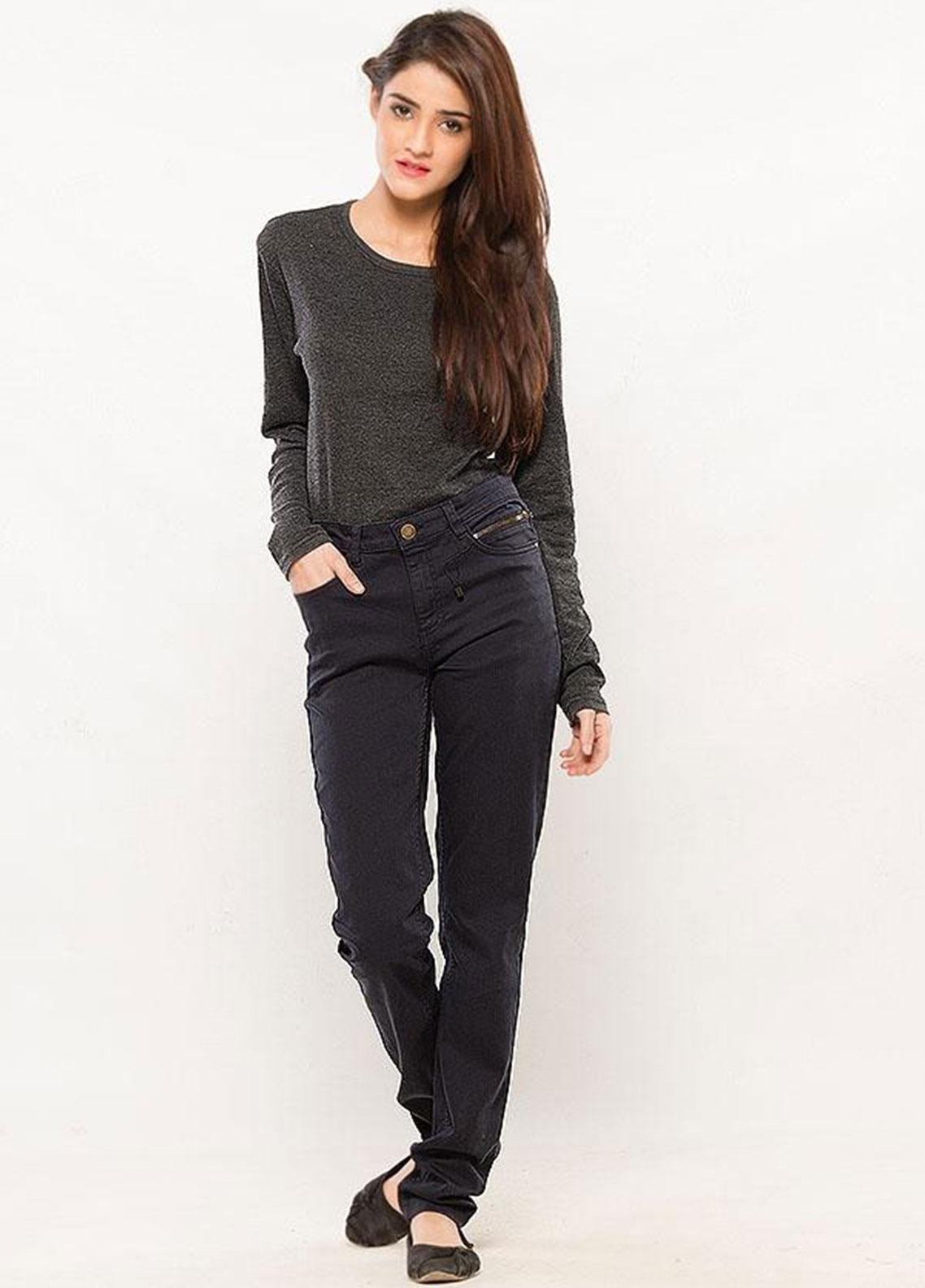 Ignite Wardrobe Stretchable Cotton Slim Fit Pants IG20PNW 009