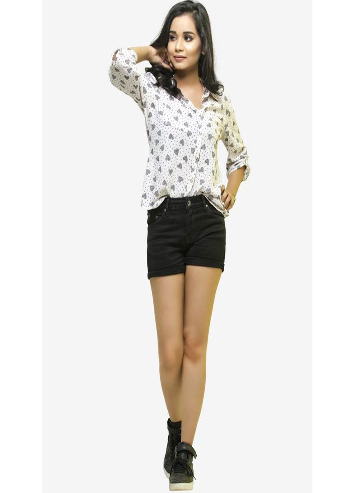 Ignite Wardrobe Stretchable Cotton Shorts IG20HPW 001