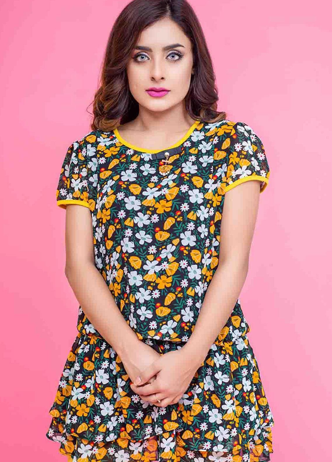Ignite Wardrobe Floral Synthetic Top IG20TOW 049