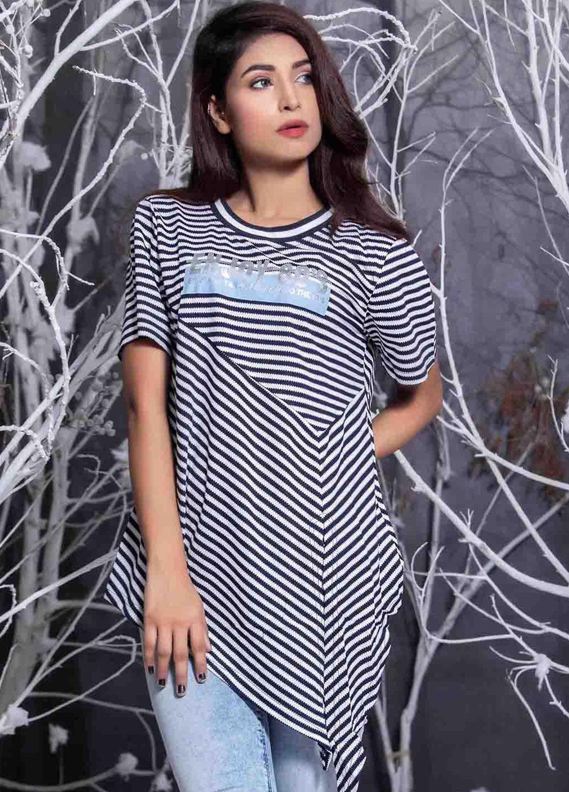 Ignite Wardrobe Striped Jersey Top IG20TOW 052
