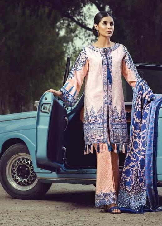 Saffron By Imperial Textile Embroidered Lawn Unstitched 3 Piece Suit IM17S 1B