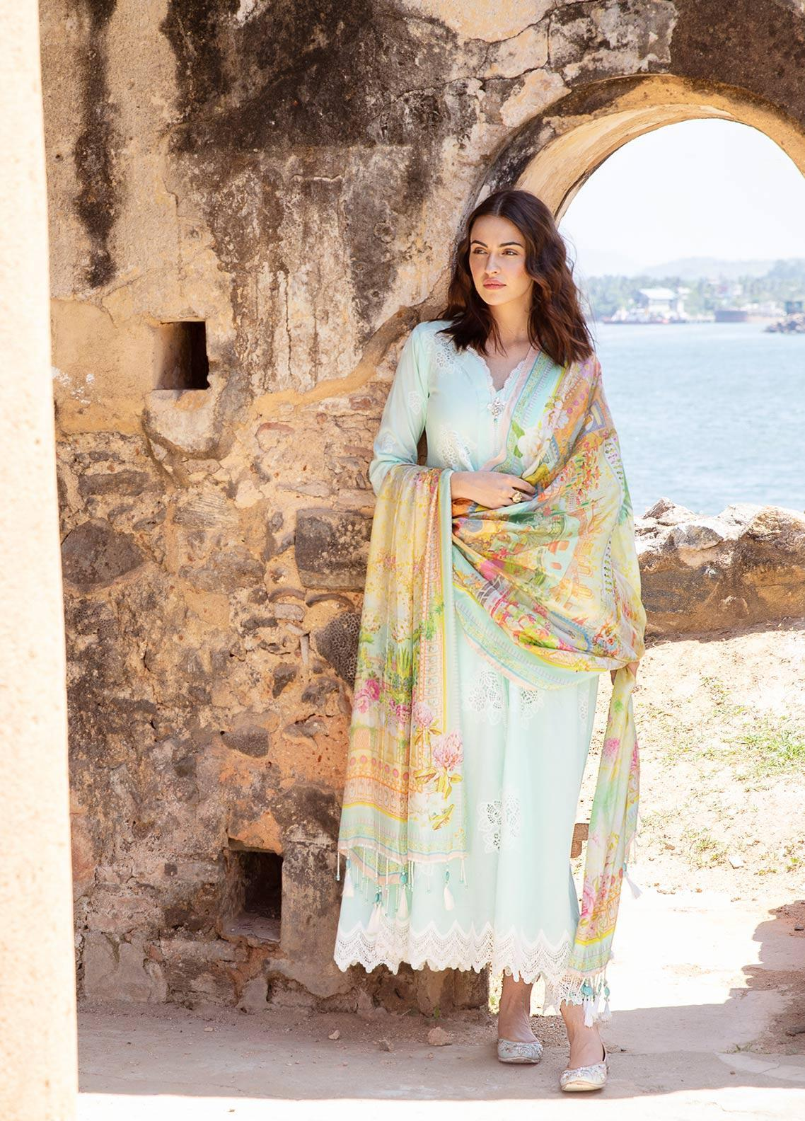 Image Embroidered Cotton Unstitched 3 Piece Suit IMG19LK 01 RANGANI - Luxury Collection