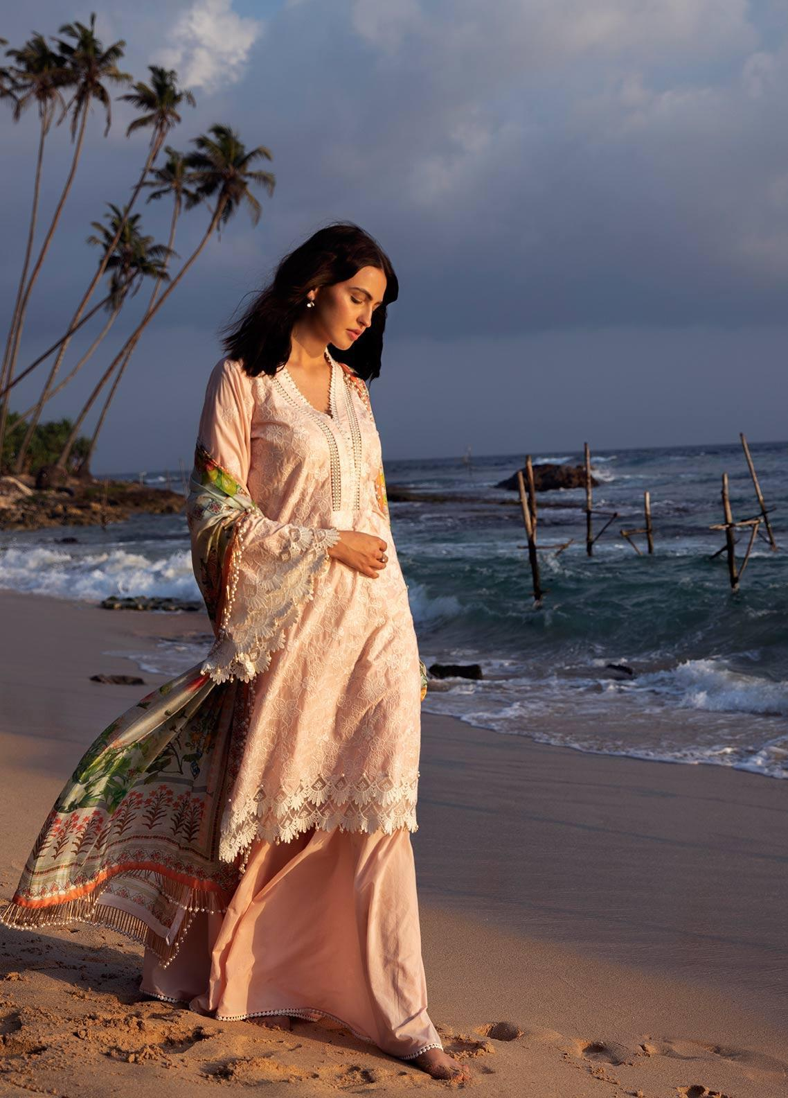 Image Embroidered Cotton Unstitched 3 Piece Suit IMG19LK 03 HIRU - Luxury Collection