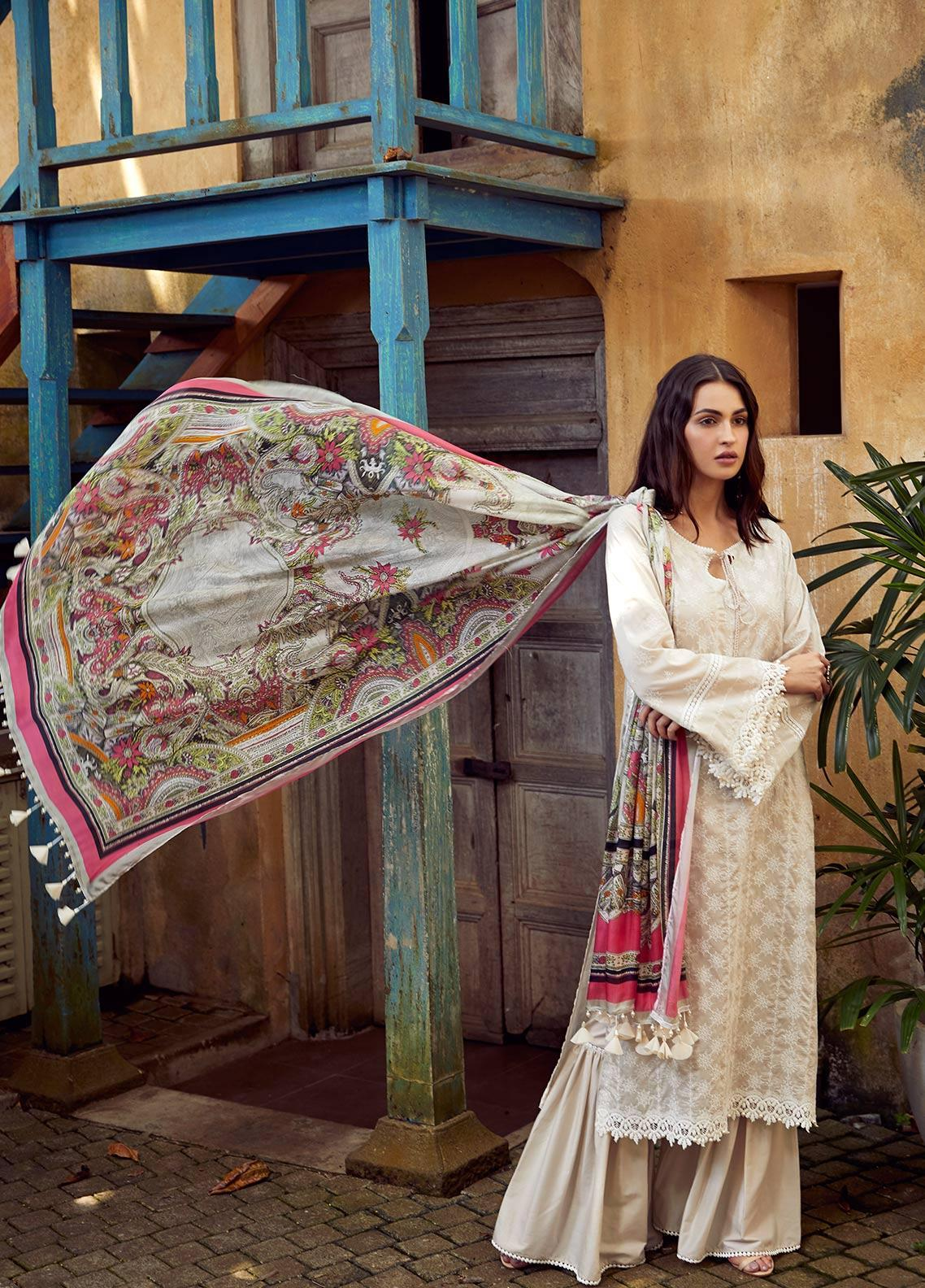 Image Embroidered Cotton Unstitched 3 Piece Suit IMG19LK 06 AMANTHI - Luxury Collection