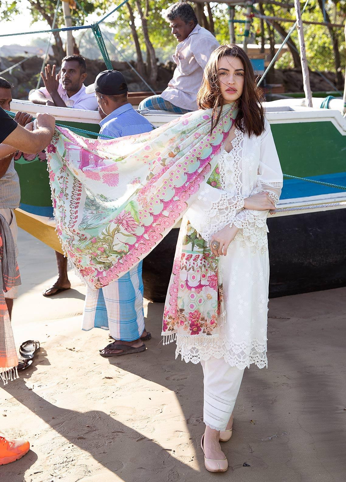 Image Embroidered Cotton Unstitched 3 Piece Suit IMG19LK 11 ROSA - Luxury Collection
