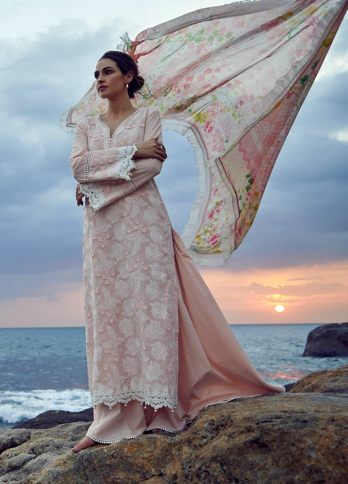 Image Embroidered Cotton Unstitched 3 Piece Suit IMG19LK 19 VANA - Luxury Collection
