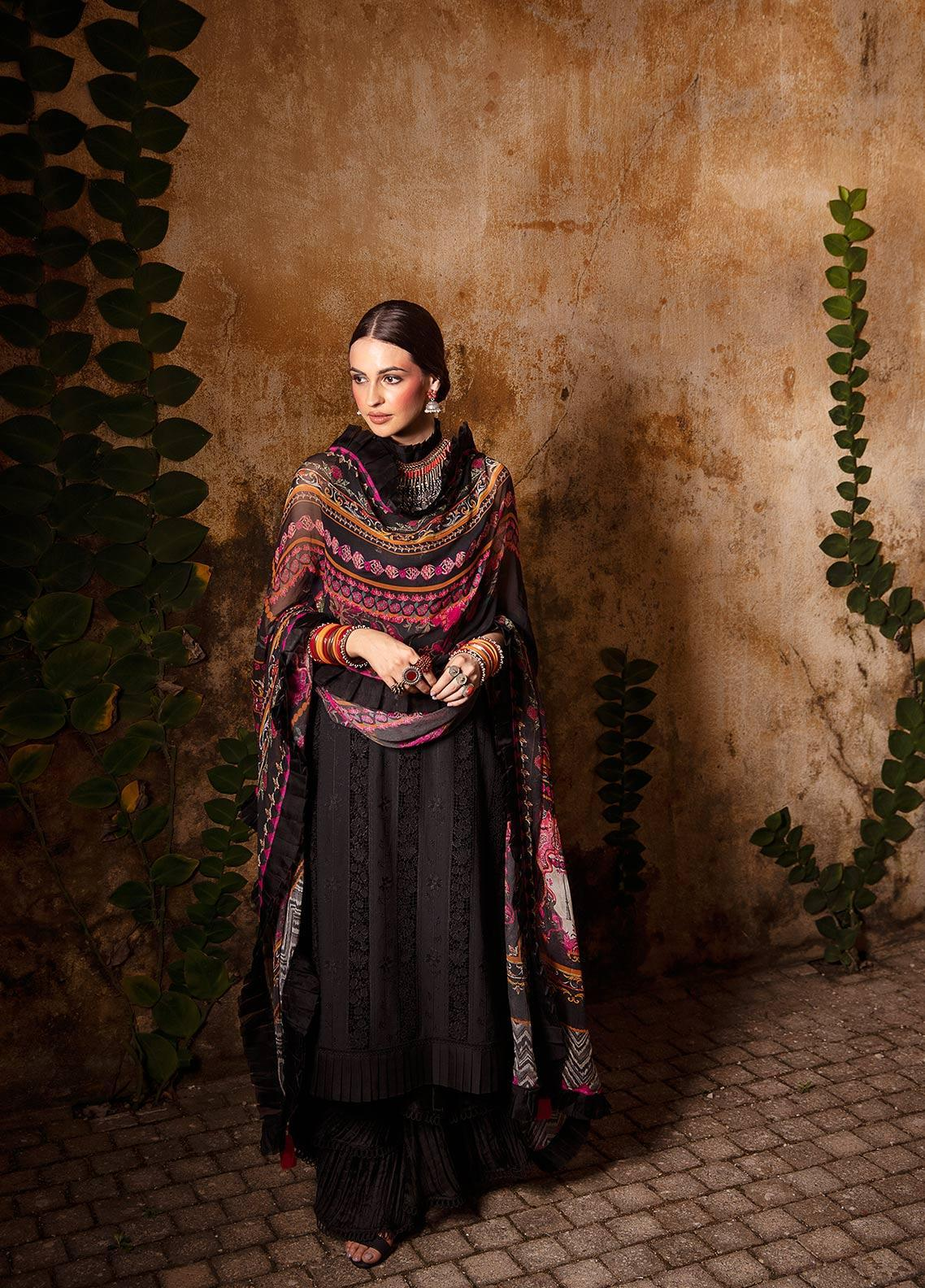 Image Embroidered Cotton Unstitched 3 Piece Suit IMG19LK 20 CHITHKALA - Luxury Collection