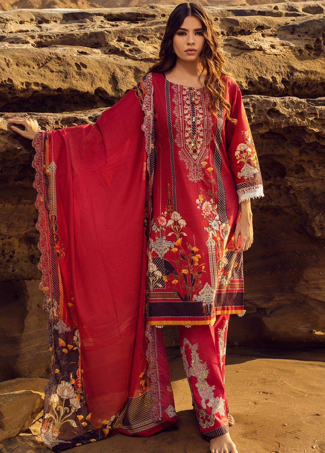 Regalia Textiles Embroidered Lawn Unstitched 3 Piece Suit RG20IE 1-A - Summer Collection