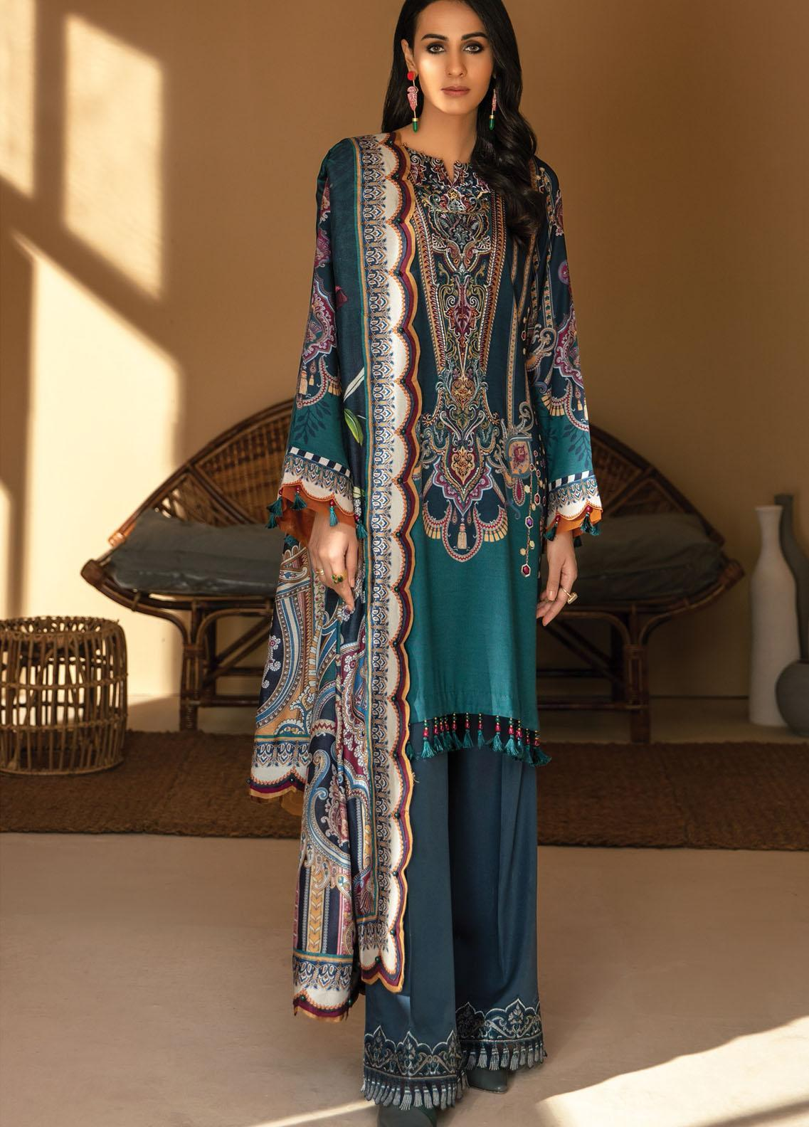 IRIS VIRSA by Jazmin Embroidered Linen Unstitched 3 Piece Suit JZ20IV 03 Nayab - Winter Collection