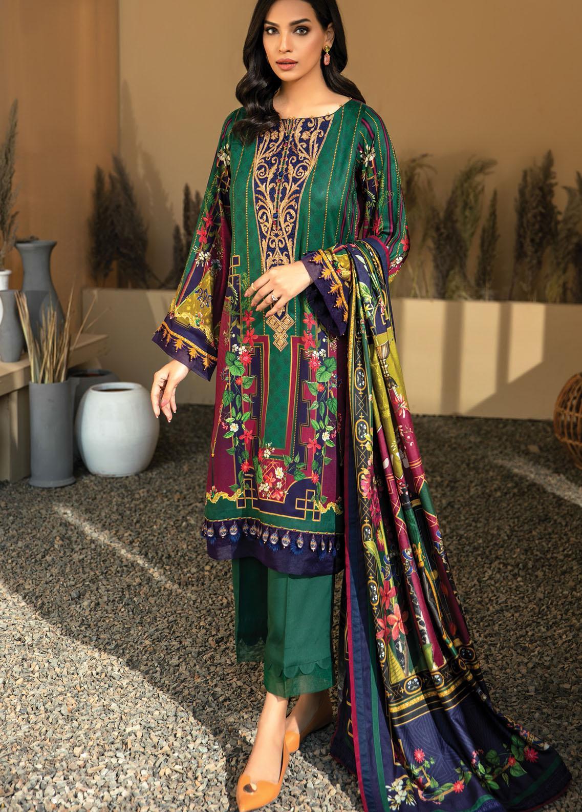 IRIS VIRSA by Jazmin Embroidered Linen Unstitched 3 Piece Suit JZ20IV 10 Sharaar - Winter Collection