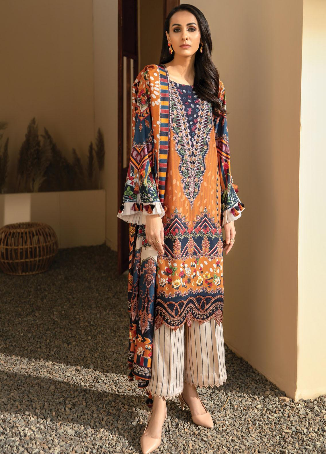 IRIS VIRSA by Jazmin Embroidered Linen Unstitched 3 Piece Suit JZ20IV 11 Seher - Winter Collection