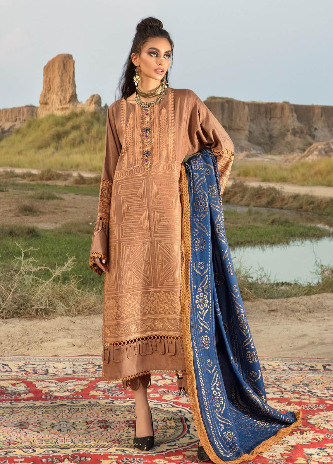 Ittehad Textiles Embroidered Jacquard Suits Unstitched 3 Piece IT21WP 06 CUIR - Winter Collection