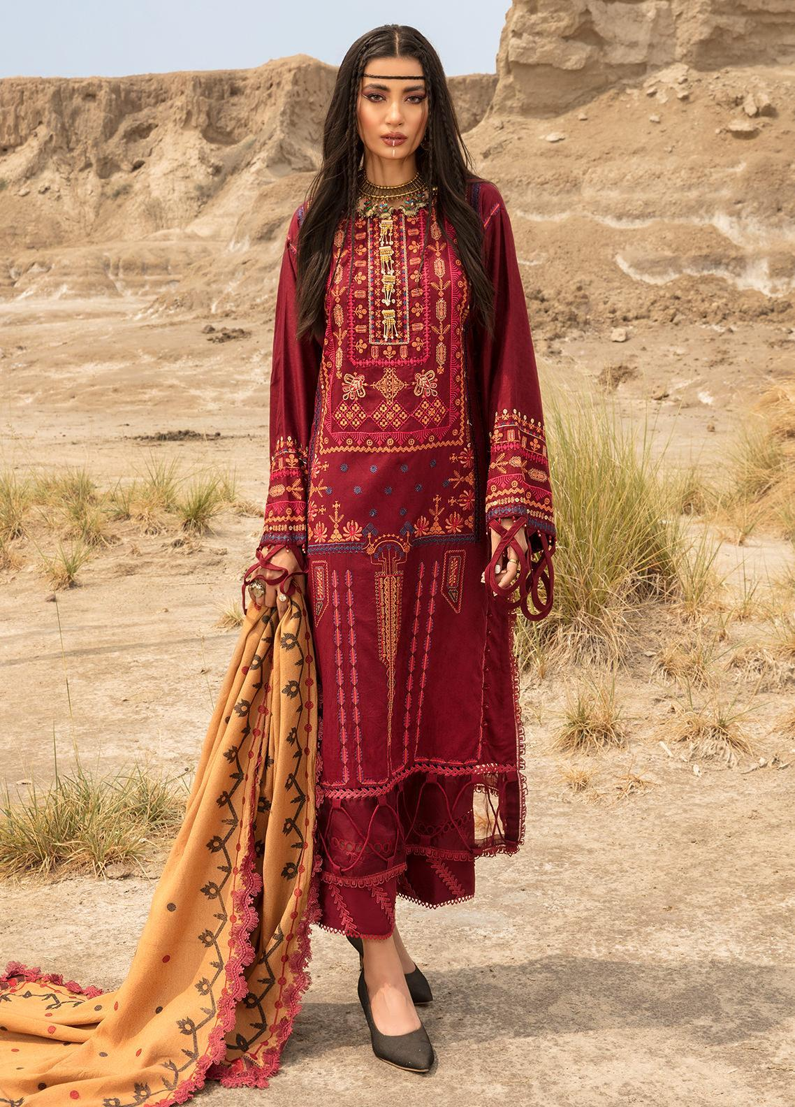 Ittehad Textiles Embroidered Jacquard Suits Unstitched 3 Piece IT21WP 07 SARISIN - Winter Collection