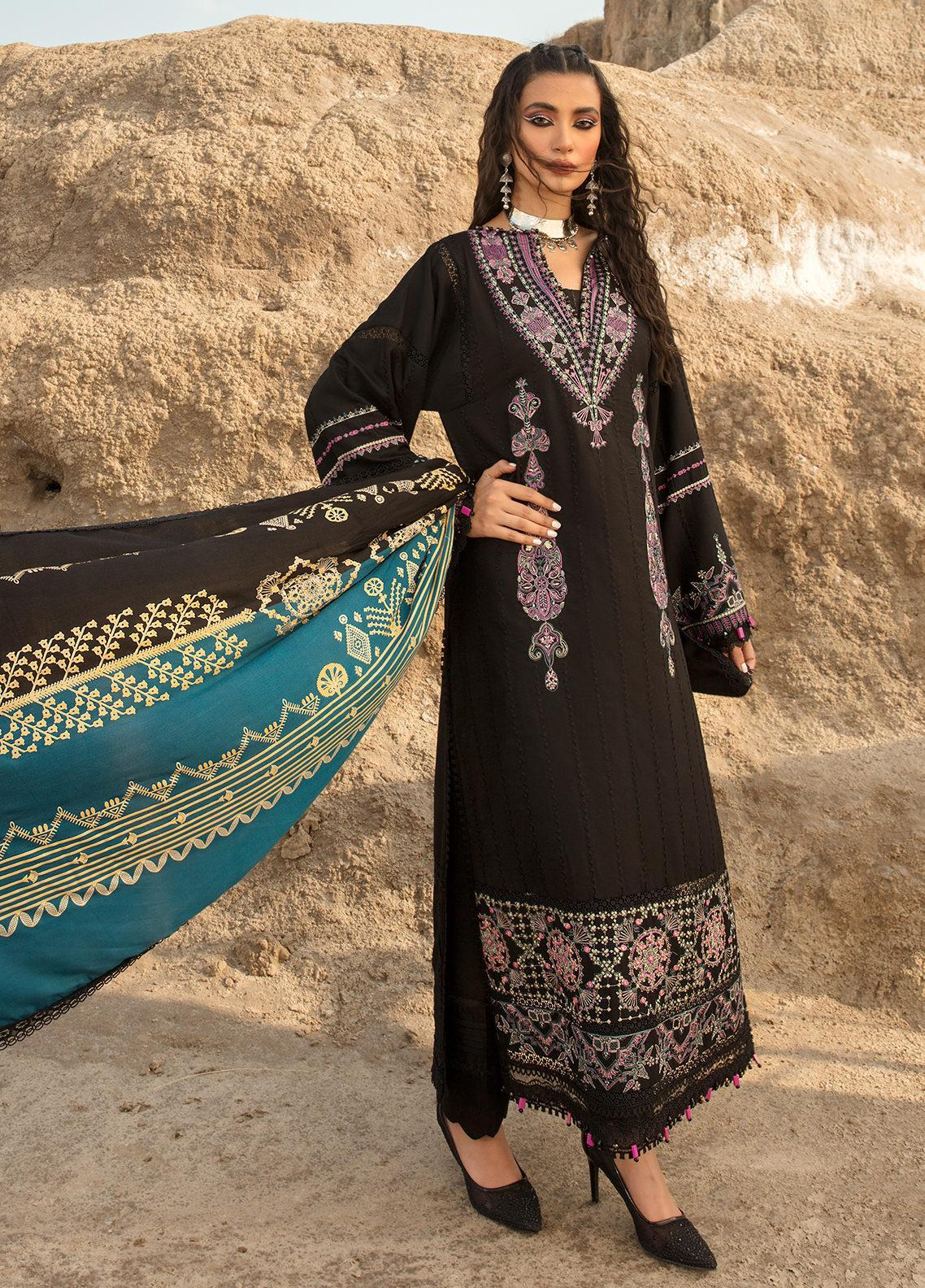 Ittehad Textiles Embroidered Crepe Suits Unstitched 3 Piece IT21WP 10 ESMER - Winter Collection