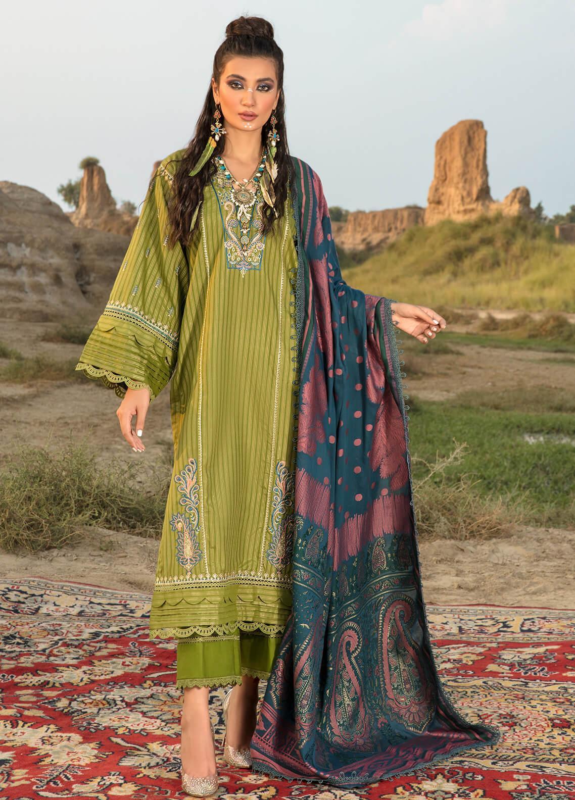 Ittehad Textiles Embroidered Missouri Suits Unstitched 3 Piece IT21WP 11 CIMEN - Winter Collection