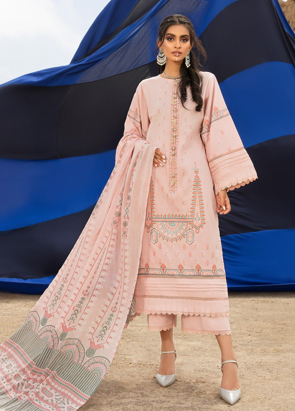 Ittehad Textiles Embroidered Cambric Suits Unstitched 3 Piece IT21WP 14 KAYISI - Winter Collection