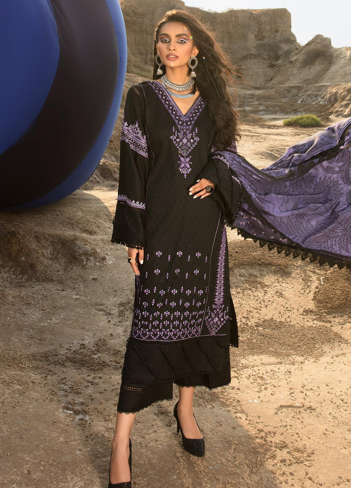 Ittehad Textiles Embroidered Jacquard Suits Unstitched 3 Piece IT21WP 15 KASIRGA - Winter Collection