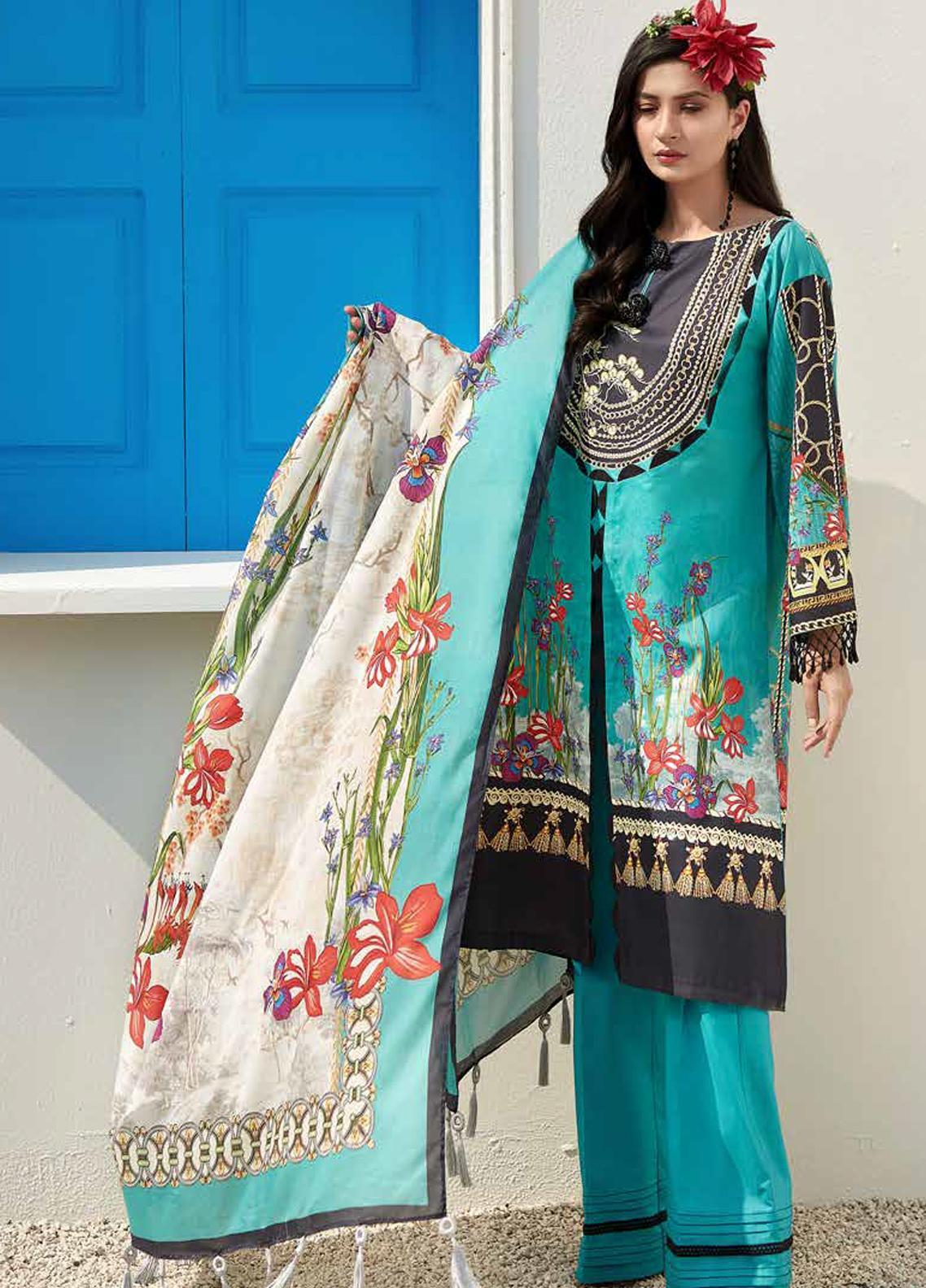 Ittehad Textiles Sarang Printed Lawn Unstitched 3 Piece Suit ITD20SR CHAMOMILE - Spring / Summer Collection