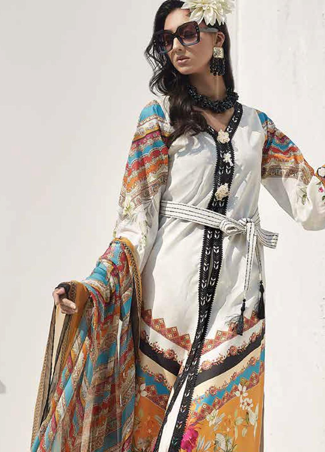 Ittehad Textiles Sarang Printed Lawn Unstitched 3 Piece Suit ITD20SR SAND CASTLE - Spring / Summer Collection
