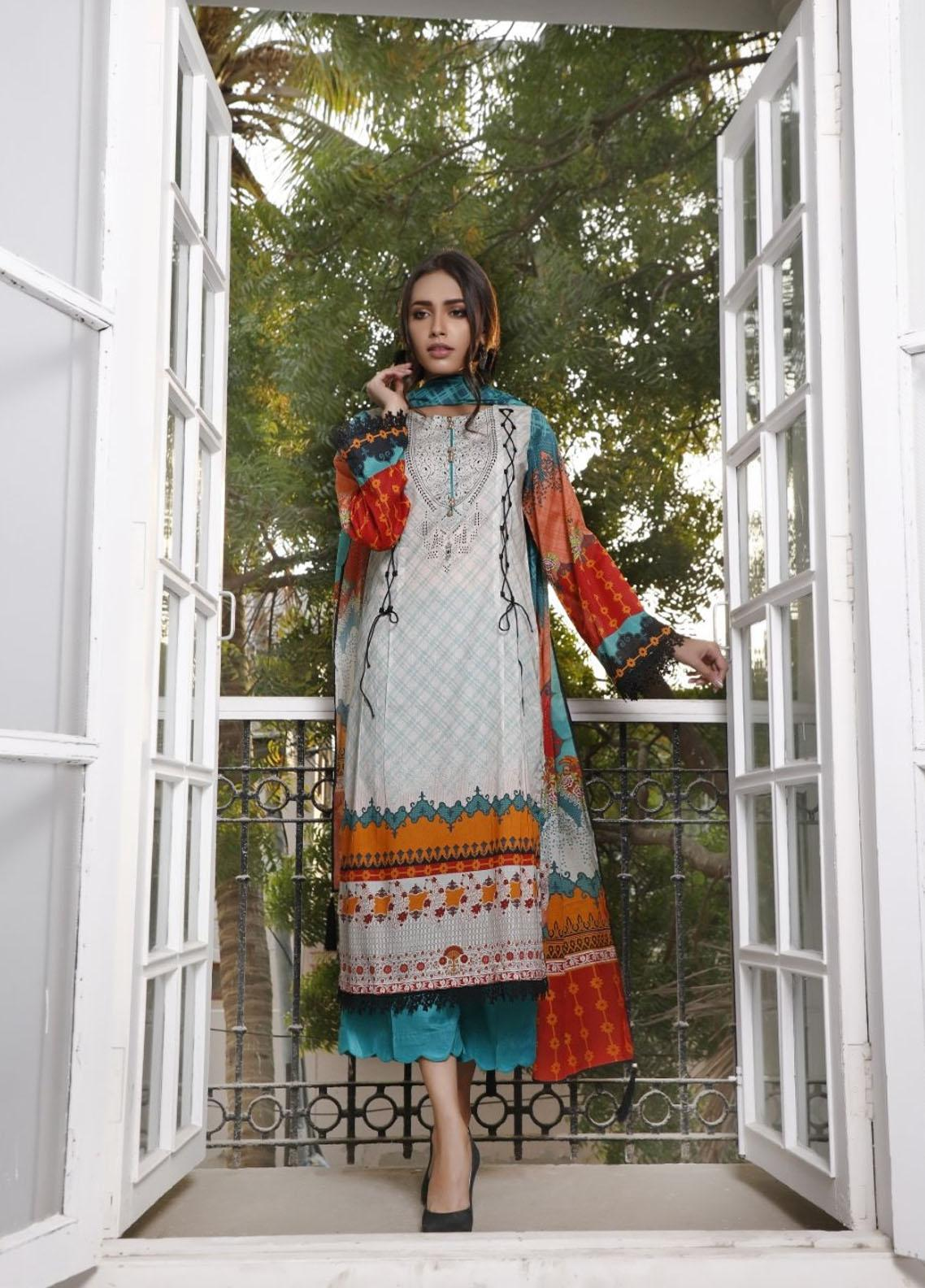 Ittehad Textiles Printed Lawn Suits Unstitched 3 Piece IT21CL LF-CL-21112B - Summer Collection