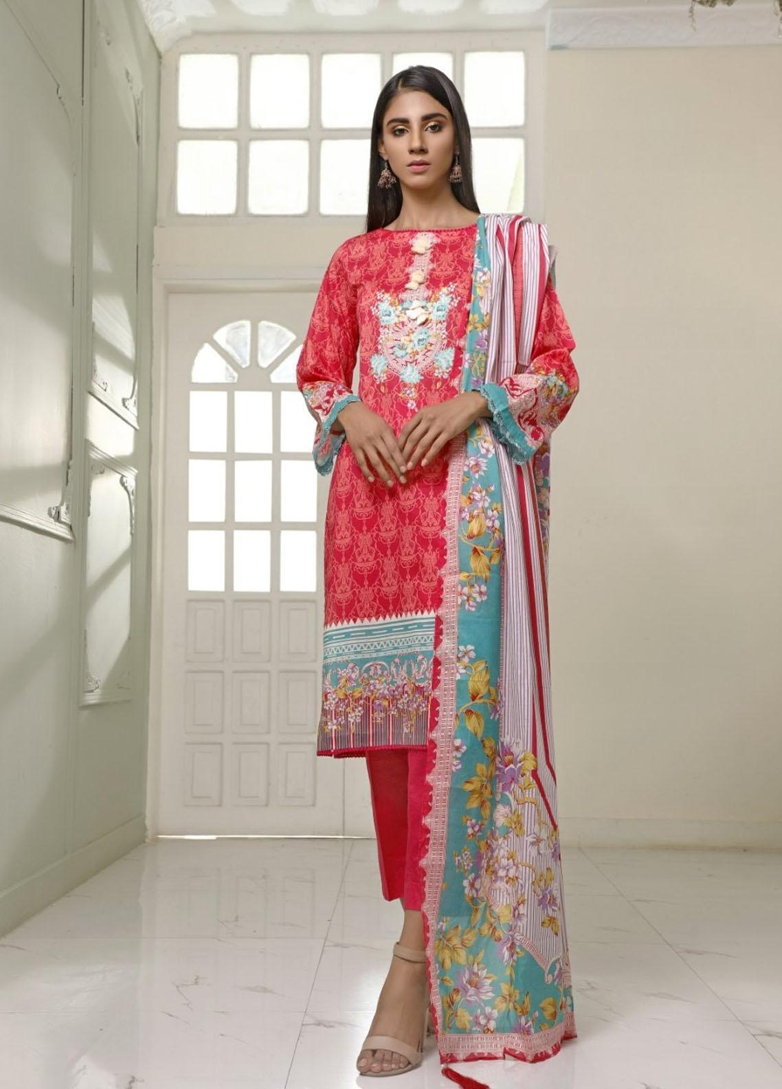 Ittehad Textiles Printed Lawn Suits Unstitched 3 Piece IT21CL LF-CL-21113A - Summer Collection