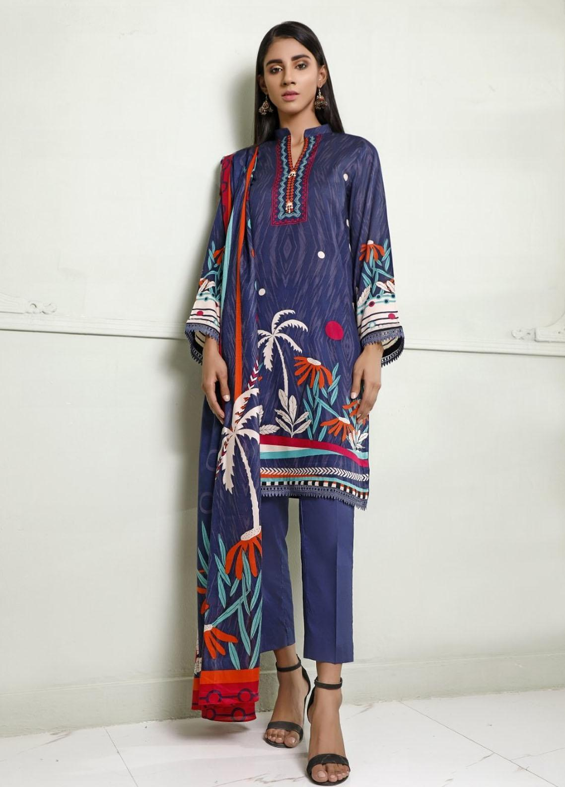 Ittehad Textiles Printed Lawn Suits Unstitched 3 Piece IT21CL LF-CL-21116B - Summer Collection