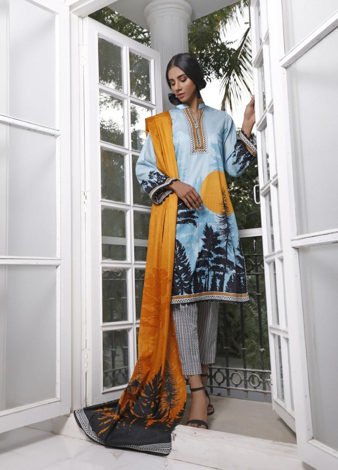 Ittehad Textiles Printed Lawn Suits Unstitched 3 Piece IT21CL LF-CL-21118A - Summer Collection